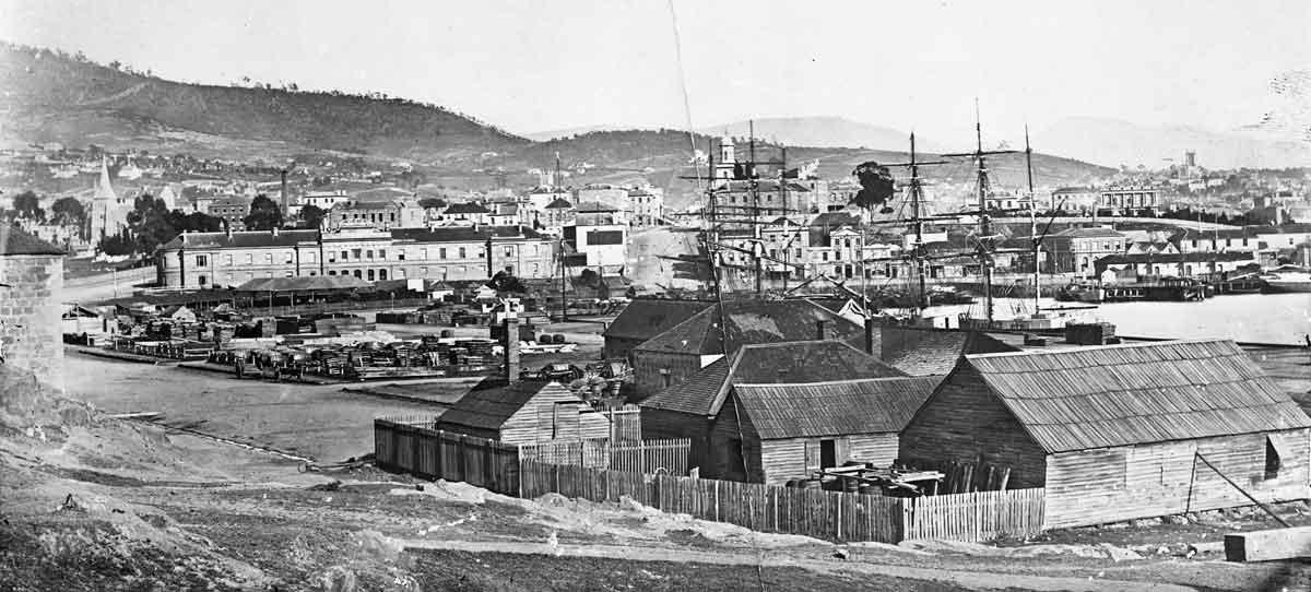 hobart town, hobart, van diemans land, tasmania, colonial history
