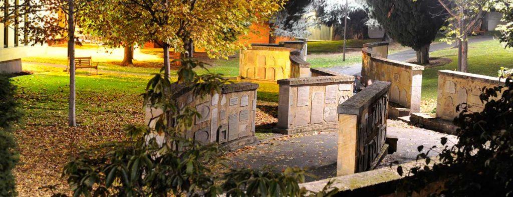 hadstones, st david's park cemetery, salamanca, hobart, tasmania