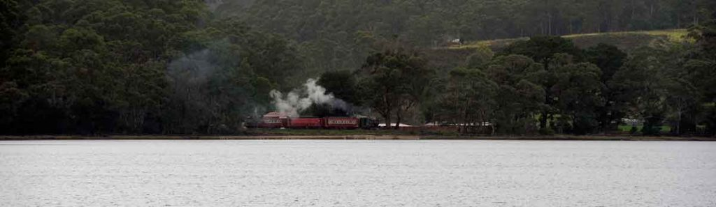strahan, macquarie harbour, tasmania, vandiemans land, gordon river, west coast wilderness railway, steam train, queenstown