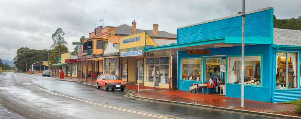 main street, zeehan, west coast of tasmania, mining in tasmania, tasmania, vandiemans land, west coast heritage centre